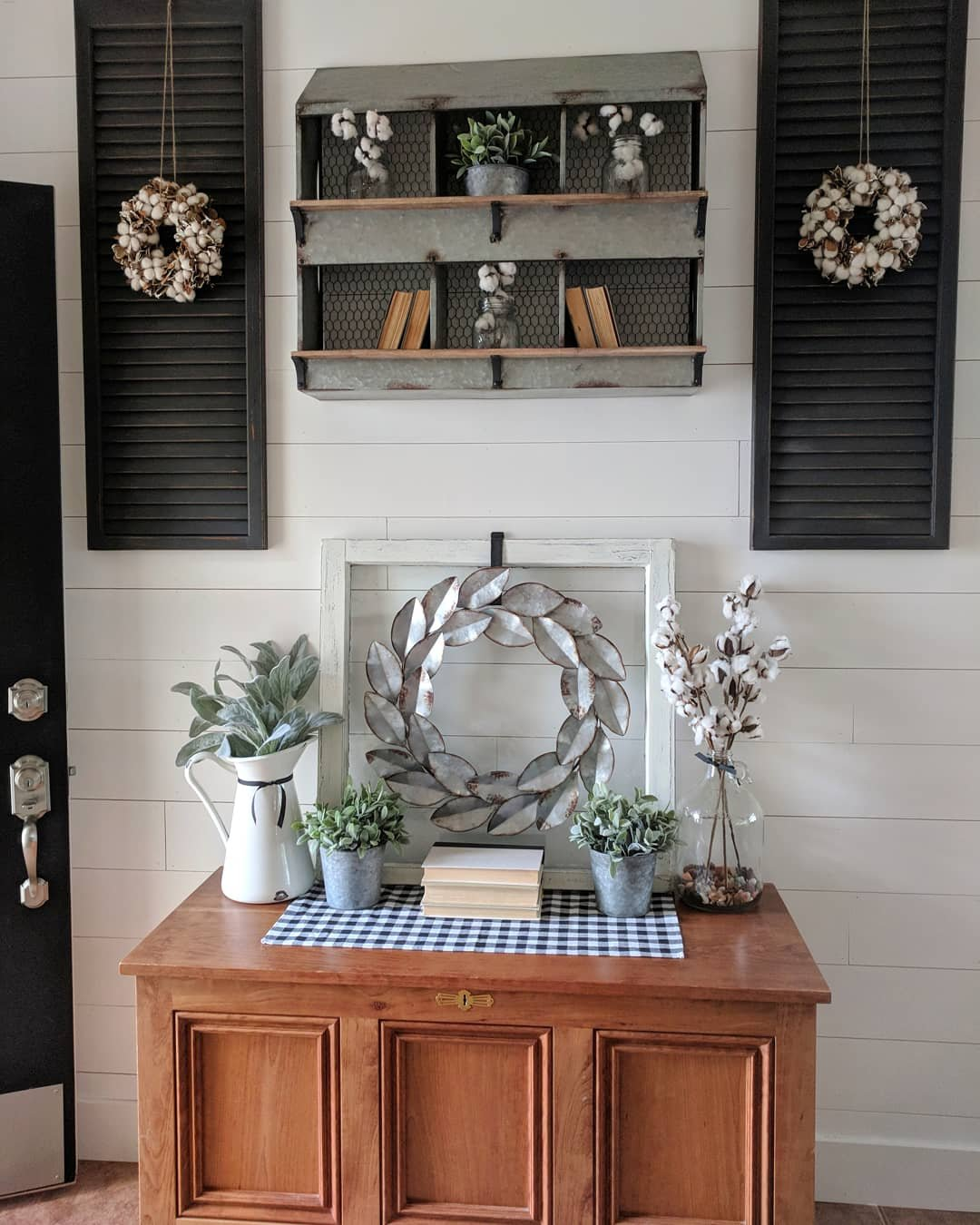 Entrway Renovation And Easy Diy Shutters To Build A Happy Nest